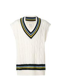 Maglione senza maniche bianco di Maison Margiela