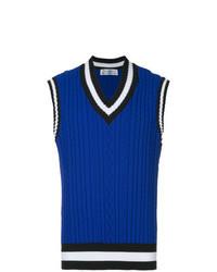 Maglione senza maniche blu