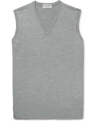 Maglione senza maniche grigio