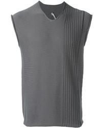 Maglione senza maniche grigio di Label Under Construction