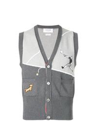 Maglione senza maniche grigio di Thom Browne