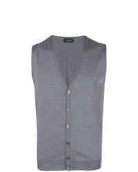 Maglione senza maniche grigio di Zanone