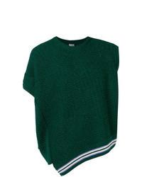 Maglione senza maniche verde scuro