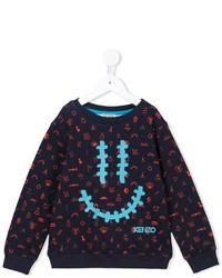 Maglione stampato blu scuro di Kenzo