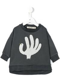 Maglione stampato grigio scuro