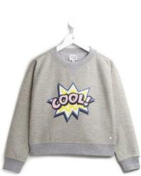 Maglione stampato grigio di Armani Junior
