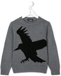 Maglione stampato grigio di DSQUARED2
