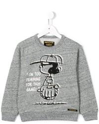 Maglione stampato grigio di Finger In The Nose