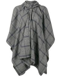 Mantello a quadri grigio di Balenciaga