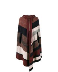 Mantello a righe orizzontali multicolore di Chloé