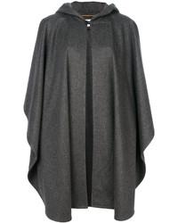 Mantello grigio scuro di Saint Laurent