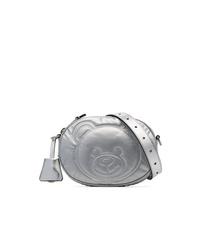 Marsupio in pelle argento di Moschino