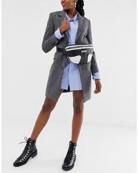 Marsupio in pelle nero e bianco di Karl Lagerfeld