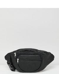 Marsupio in pelle nero di Reclaimed Vintage