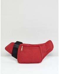 Marsupio in pelle scamosciata rosso di Yoki Fashion