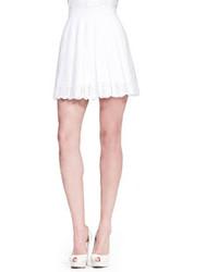 Minigonna a pieghe bianca