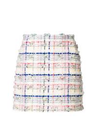 Minigonna a quadri bianca di Thom Browne