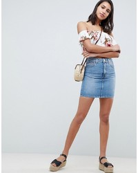 Minigonna di jeans azzurra di ASOS DESIGN