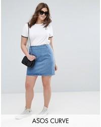 Minigonna di jeans azzurra di Asos