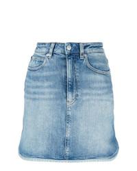 Minigonna di jeans azzurra di Calvin Klein Jeans