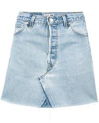 Minigonna di jeans azzurra di RE/DONE