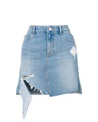 Minigonna di jeans azzurra di Sjyp