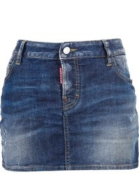 Minigonna di jeans blu