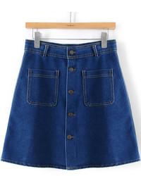 Minigonna di jeans blu scuro