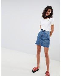 Minigonna di jeans blu di ASOS DESIGN
