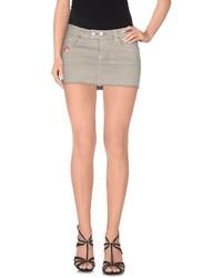 Minigonna di jeans grigia