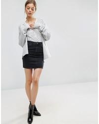 Minigonna di jeans nera di Asos