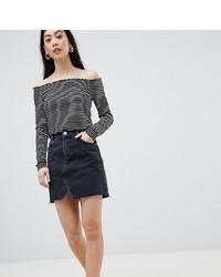 Minigonna di jeans nera di Asos Petite