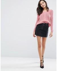 Minigonna di jeans nera di Miss Selfridge