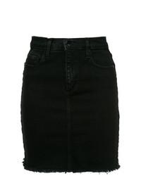 Minigonna di jeans nera di Nobody Denim