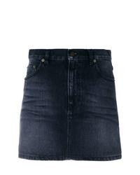 Minigonna di jeans nera di Saint Laurent
