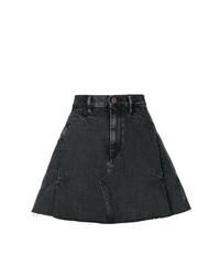 Minigonna di jeans nera di Simon Miller