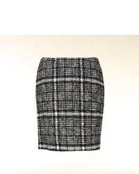 Minigonna di lana a quadri