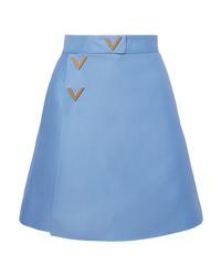 Minigonna di lana azzurra
