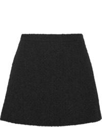 Minigonna di lana nera