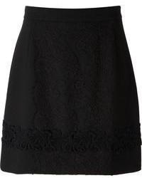 Minigonna di pizzo nera di Dolce & Gabbana