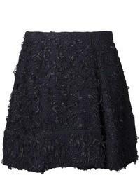 Minigonna di tweed nera