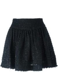 Minigonna di tweed nera di Simone Rocha
