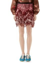 Minigonna di tweed rosa