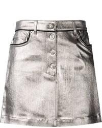 Minigonna in pelle argento di Sonia Rykiel