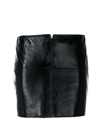 Minigonna in pelle nera di Courreges