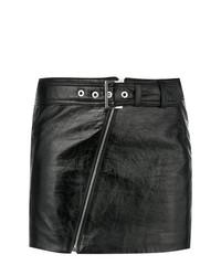 Minigonna in pelle nera di Manokhi