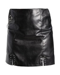 Minigonna in pelle nera di Missguided
