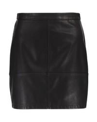 Minigonna in pelle nera di New Look