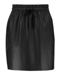 Minigonna in pelle nera di Vero Moda
