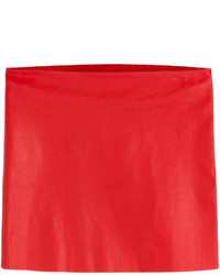 Minigonna in pelle rossa